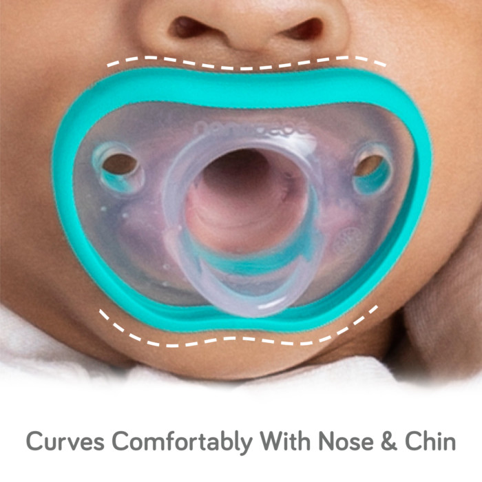 3 Nanobebe Baby Pacifier Comfort Fit Close up